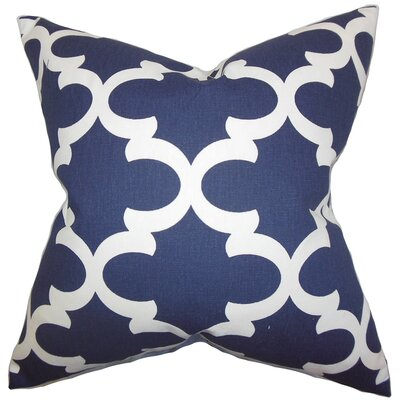 Zeigler Geometric Cotton Throw Pillow Color: Blue, Size: 18 x 18
