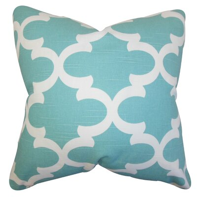 Clyburn 100% Cotton Throw Pillow Color: Spirit Blue, Size: 18 x 18