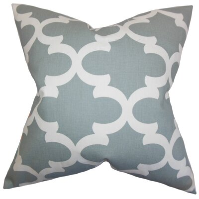Zeigler Geometric Cotton Throw Pillow Color: Gray, Size: 20 x 20