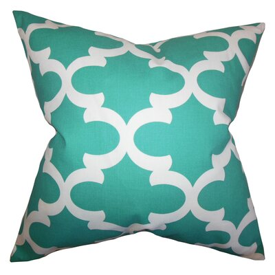 Clyburn 100% Cotton Throw Pillow Color: Jade, Size: 20 x 20