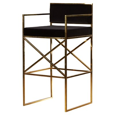 Odette Bar Stool with Cushion