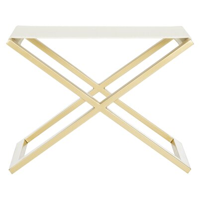 Peters End Table Color: White Crocodile