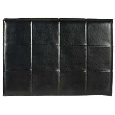 Muni Upholstered Panel Headboard Upholstery: Black, Size: Queen