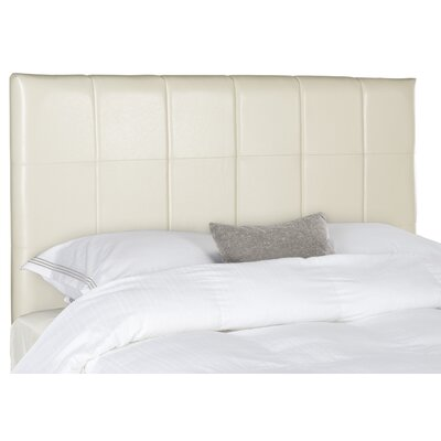 Muni Upholstered Panel Headboard Size: Full, Color: White