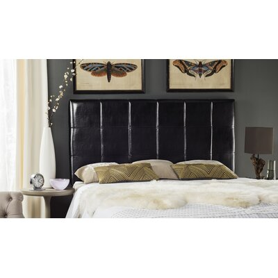 Muni Upholstered Panel Headboard Size: Full, Upholstery: Black
