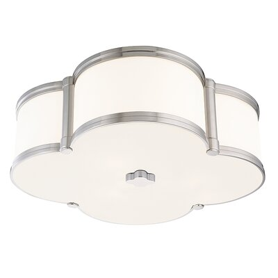 Roselli 3-Light Flush Mount Finish: Polished Nickel