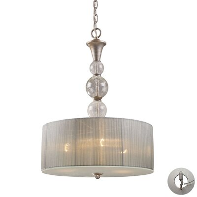 Stanmore 3-Light Metal Drum Pendant