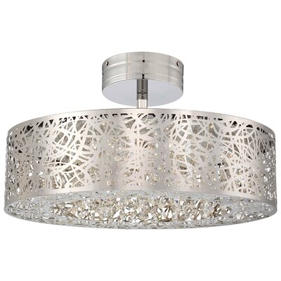 Brooklington 1-Light Semi Flush Mount