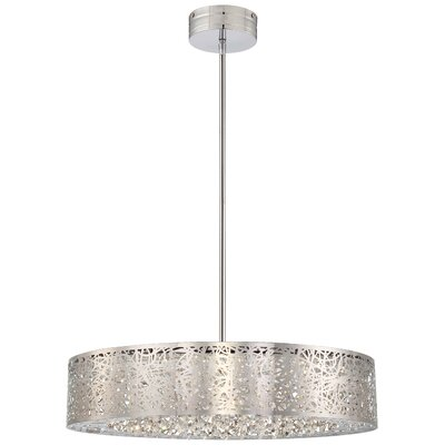 Brooklington 1-Light Drum Pendant Size: 5 H x 24 W x 24 D