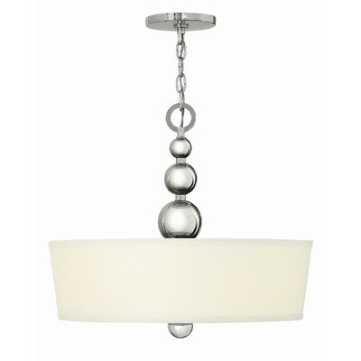Shaw 3-Light Drum Pendant Finish: Polished Nickel