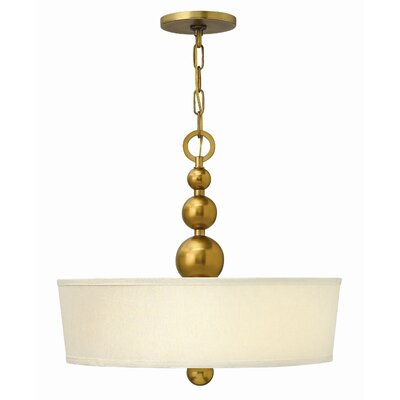 Shaw 3-Light Drum Pendant Finish: Vintage Brass