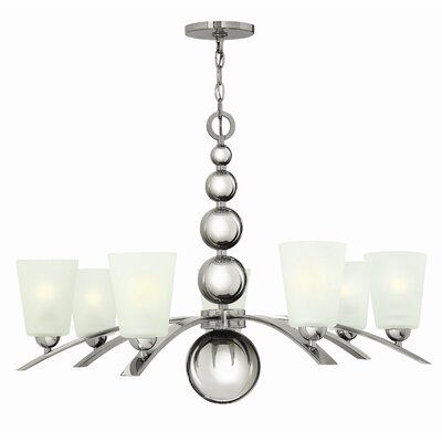 Shaw 7-Light Shaded Chandelier Finish: Polished Nickel