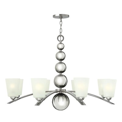 Shaw 8-Light Shaded Chandelier Finish: Polished Nickel