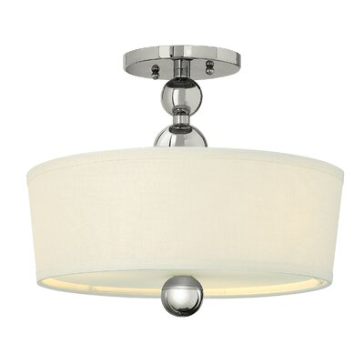 Shaw 1-Light Semi Flush Mount