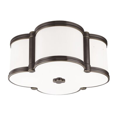 Roselli 2-Light Flush Mount Finish: Old Bronze