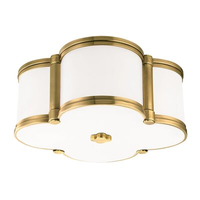 Roselli 2-Light Flush Mount Finish: Aged Brass
