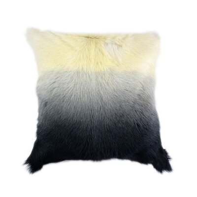 Sigourney Goat Fur Throw Pillow Color: Gray