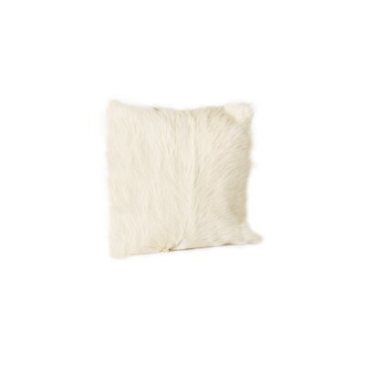Sigourney Goat Fur Throw Pillow (Set of 2) Color: Natural