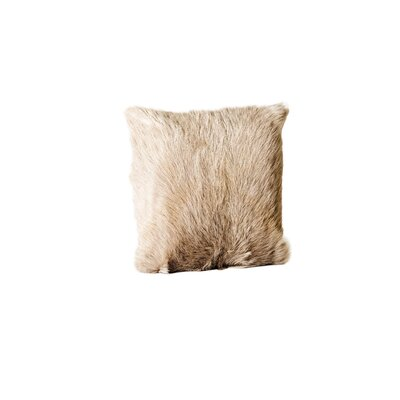Sigourney Goat Fur Throw Pillow (Set of 2) Color: Dark Gray