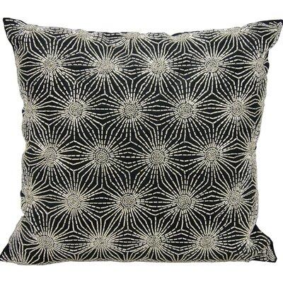 Siegel Throw Pillow Color: Black/Silver