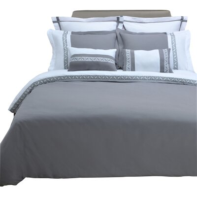 Pearson 3 Piece Reversible Duvet Cover Set Size: Full/Queen, Color: White/Gray