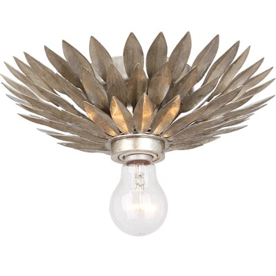 Rochelle 1-Light Semi Flush Mount Finish: Antique Sliver