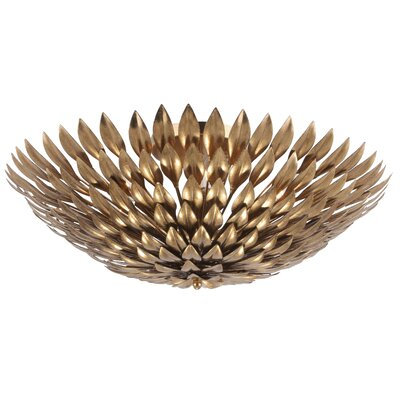 Rochelle 6-Light Modern Semi Flush Mount Finish: Antique Gold