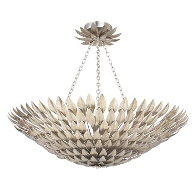 Rochelle 8-Light Semi Flush Mount Finish: Antique Sliver