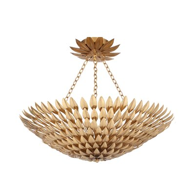 Rochelle 8-Light Semi Flush Mount Finish: Antique Gold