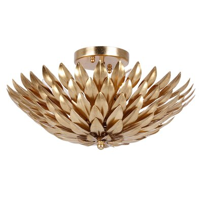 Rochelle 4-Light Wrought Iron Semi Flush Mount Finish: Antique Gold