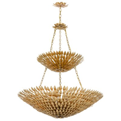 Rochelle 18-Light Shaded Chandelier Finish: Antique Gold