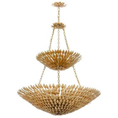 Kohlmar 18-Light Shaded Chandelier Finish: Antique Gold