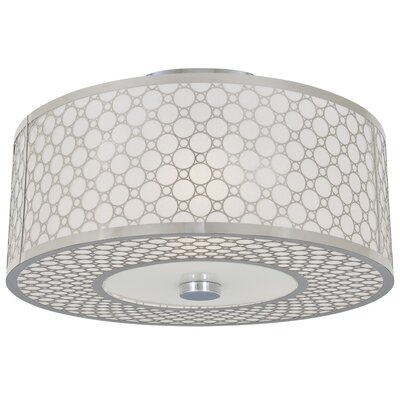 Dunlap Light Semi Flush Mount Size: 18.5