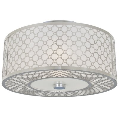 Dunlap Light Semi Flush Mount Size: 16
