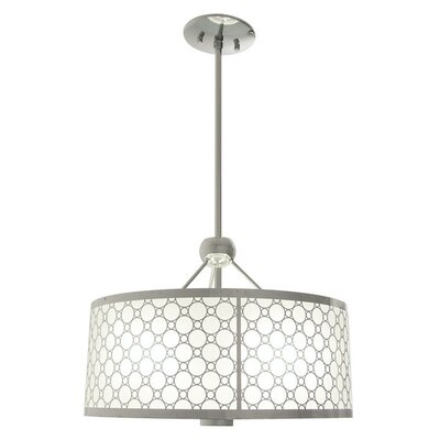 Dunlap 1-Light Drum Pendant Size: 18.5