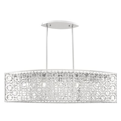 Jacobs 5-Light Linear Drum Pendant