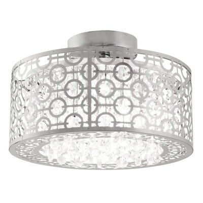Jacobs 3-Light Semi Flush Mount Size: 9.5 H x 16 W x 16 D