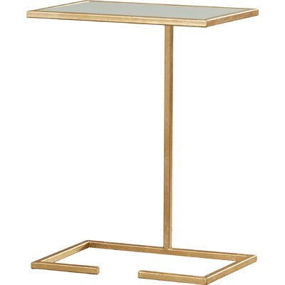 Bilertine End Table Color: Gold / White