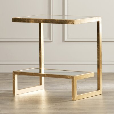 Mira End Table Finish: Gold