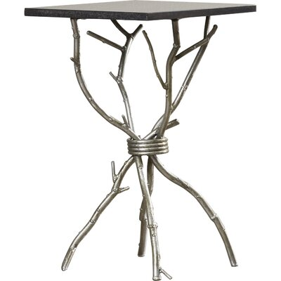 Noble End Table Color: Black / Silver