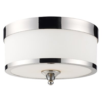 Carlitos 3-Light Flush Mount Finish: Chrome