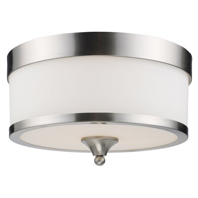Carlitos 3-Light Flush Mount Finish: Brushed Nickel