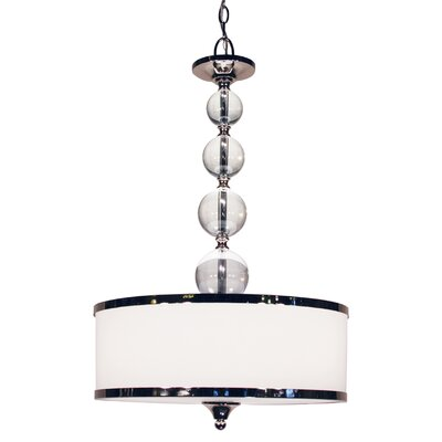 Carlitos 3-Light Drum Foyer Pendant Finish: Chrome