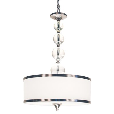 Carlitos 3-Light Drum Foyer Pendant Finish: Brushed Nickel