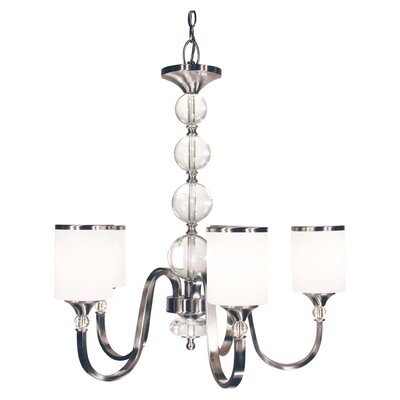 Carlitos 5-Light Shaded Chandelier Finish: Brushed Nickel