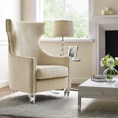 Mollie Croc Velvet Wingback Chair