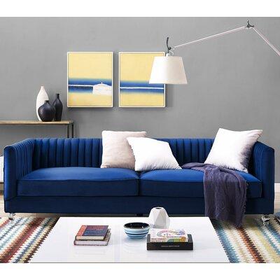 Blaisdell Sofa Upholstery: Navy