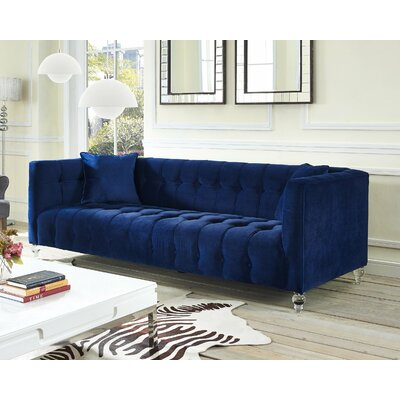 Kittrell Chesterfield Sofa Upholstery: Navy