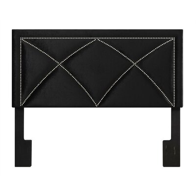 McDormand Upholstered Panel Headboard Upholstery: Velvet Black, Size: King