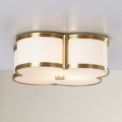 Roselli 3-Light Flush Mount Finish: Aged Brass